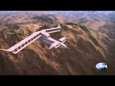 垂直上昇からの飛行を可能とする飛行機のコンセプトビデオ