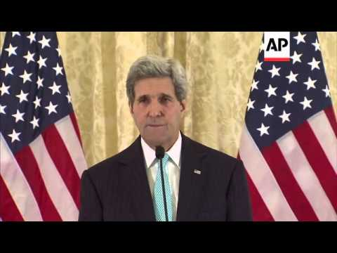 US Secretary of State Kerry comments on Ukraine, Iran and US elections