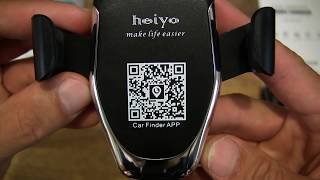 Heiyo Wireless Car Charger Mobile Phone Mount