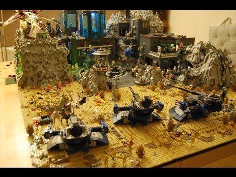 Big lego star wars the clone wars base on planet dor epic battle youtube - Croiseur interstellaire star wars lego ...