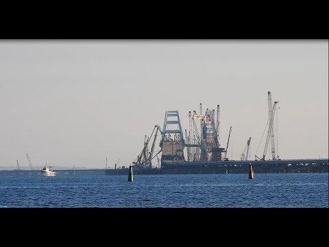 Крымский(январь 2018)мост! Работа на мосту закипела! Мост на праздниках!