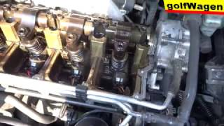 VW Golf 5, how to change or repair engine leak /connector leak/ oil dirty engine