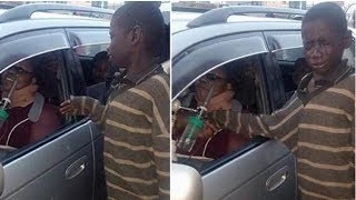 Homeless Child Walks To Woman Sitting In Car-But Tears Stream Down His Face After One Look