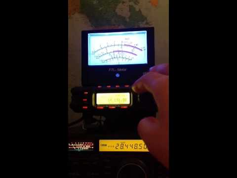 20m amateur band during the early evening in the UK, using Yaesu FT-857d and an LDG FTL-Meter