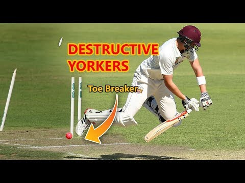 Best Yorkers In Cricket History  - Destructive Yorkers Compilation 2018