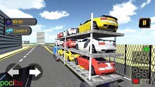 transporte de carro Caminhões para crianças vídeo carros de brinquedo carros de corrida jogo vídeo