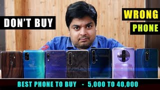 BEST SMARTPHONE TO BUY IN 2020 - 5,000 TO 40,000 | Don't Buy Wrong Phone