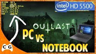 Outlast 2 Gameplay em Notebook Fraco i5 5200U Na Intel HD Graphics 5500 #347