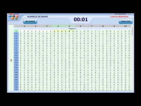 Memorización:matrices y números binarios en un parpadeo