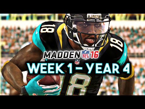 Madden 16 Jaguars Connected Franchise Year 4 - Week 1 vs Colts Ep.67
