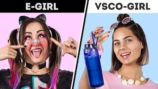 VSCO-Girl And E-Girl! Transforming Into TikTok Girls