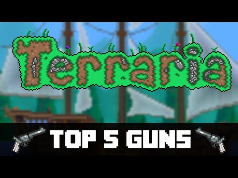 Top 5 Guns in Terraria! (PC. CONSOLE. VITA)