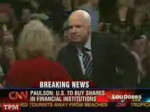 Woman calls Obama an Arab at Rally - McCain condems talk (@TraderNewburgh)