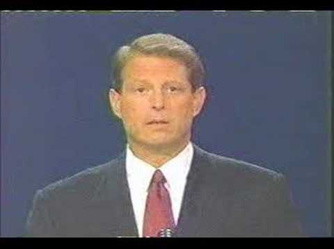 an essay on the debate of al gore and george w bush
