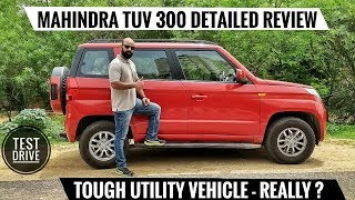 MAHINDRA TUV 300 DETAILED REVIEW,TEST DRIVE, HONEST OPINION
