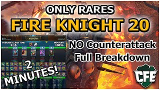 RAID Shadow Legends | ONLY RARES | FIRE KNIGHT 20 | No Counterattack | 2 Minutes