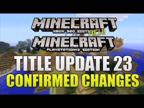 ★Minecraft Xbox 360 + PS3 NEW Title Update 23 Out Now Pattern Texturepack + MORE BIG UPDATE ★