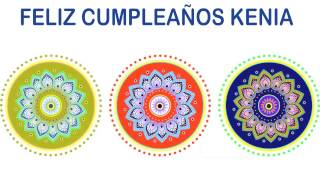 Kenia   Indian Designs - Happy Birthday