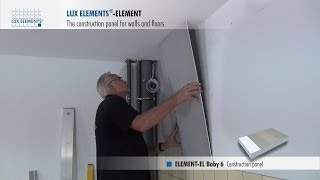 LUX ELEMENTS Installation: Construction panel ELEMENT for wall levelling over existing tile covering
