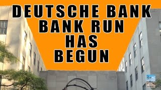 BANK RUN at Deutsche Bank! Depositors Panic as Default Coming soon!