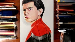 "How to draw Tom Holland from Spiderman Movie ""Homecoming"""