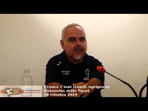 coach Franco Ciani post Roma - Agrigento