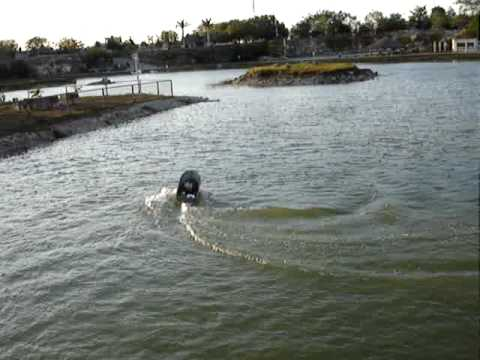 Home made rc gas boat 30cc mexico