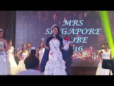 MRS SINGAPORE GLOBE 2016 CROWNING - LINA LI