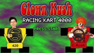 Clown Kush (2017) HD VHS - (Part 2b/13) 8 Bit SNES Game Clown Kart 4000 - retrowave synthwave