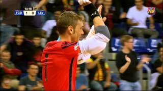 FC Barcelona Futsal: Goalkeepers' goals