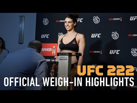 UFC 222 Official Weigh-In Highlights - MMA Fighting
