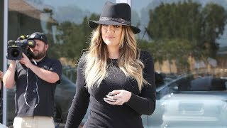 Khloe Kardashian Arrives At The Dealership To Film Her Show [2014]