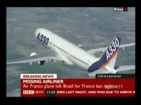 AIRBUS A330 200 Air France plane crash Accident Flight 447 Rio Paris june 1 2009 Absturz  Flugzeug