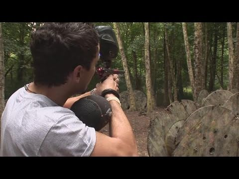 How To Take Aim Of A Paintball Gun