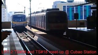 #TrainMeets #LatePost LRT 2 Hyundai Rotem EMU TS#08 meets TS#18 at Cubao Station (3-2-19)