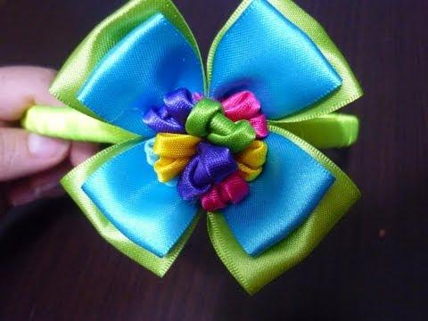 Tutoriales flores moños de liston  o cinta para accesorios del cabello de  las niñas  No.109