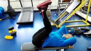 Упражнения для ягодиц и пресса + упражнения зарядка для похудения рук