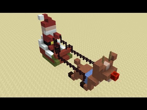 Santas Flying Sleigh In Minecraft YouTube