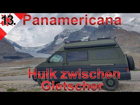Hulk zwischen Gletscher | Jasper National Park | Panamericana VW T4 Syncro Offroad Camper | #13.