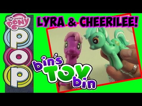 My Little Pony Pop Cheerilee & Lyra Heartstrings Customizable Ponies! Review By Bin's Toy Bin video