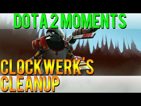 Dota 2 Moments - Clockwerk's Cleanup