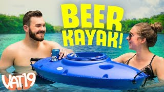 This boat is actually a 30-can cooler!