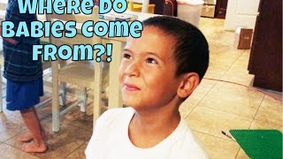 😳❓THE BIG TALK WITH 8 YR OLD BOY / SEX, PREGNANCY & BABIES