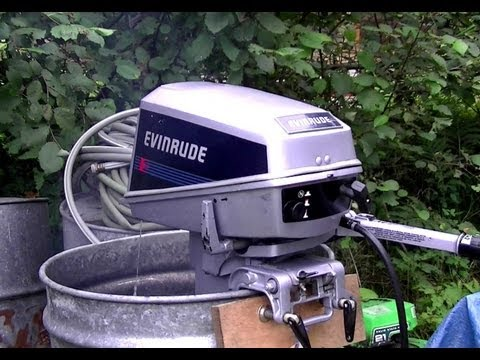8HP Evinrude Start Up & Overview of Adjusting Screws