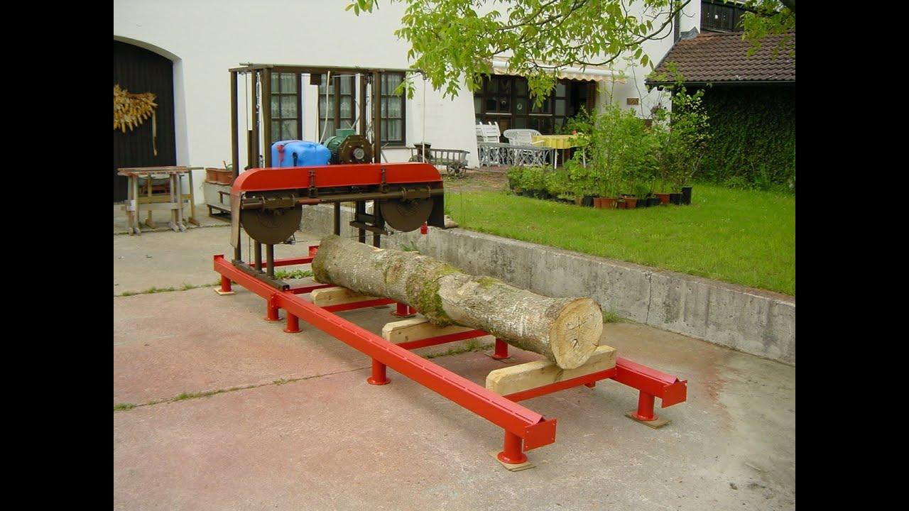 blockbands ge eigenbau homemade bandsaw mill youtube