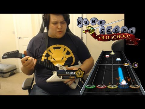 Old School Runescape Dev plays Runescape Theme on Guitar Hero