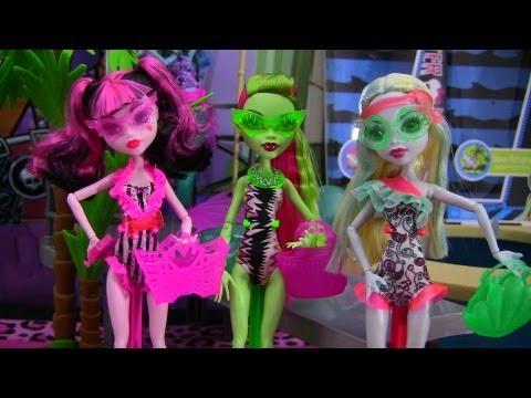 Monster High Lagoona Blue Swim Doll ▶ Monster High Swim Dolls