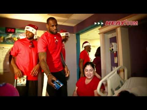 NBA Cares: Heat players visit Children's Hospital
