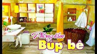 Làm nhà tắm DÁT VÀNG cho Búp bê SÁNG ĐẸP RỰC RỠ ★ Tự làm phòng tắm cho búp bê rất đẹp 😍😍👍👍