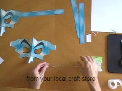 Make a FREE Witch Mask from CutOutCostumes.com